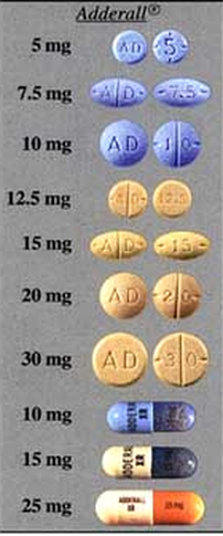 Adderall IR 20 Mg